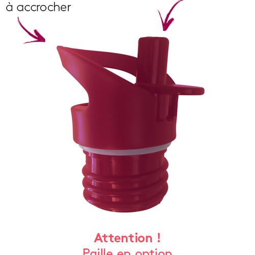 Groovy bouchon sport Framboise embout rabattable