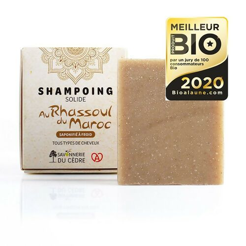 Shampoing solide naturel bio - Rhassoul